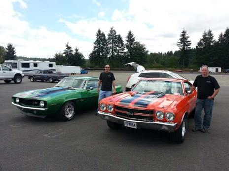 Bryson Eiffert, left, and his brother Brent Eiffert will continue a family tradition of showing restored cars at the Vintage Wheels Show this weekend. Photo courtesy Brent Eiffert