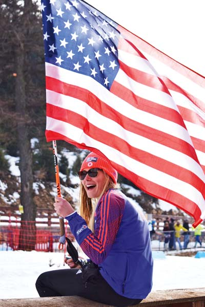 Photo courtesy of Ariana Woods Liberty Bell's Claire Waichler proudly represented the United States at the World Junior Biathlon Championships in Romania.
