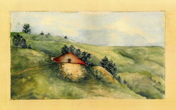 Photo courtesy of the Wenatchee Valley Museum and Cultural Center Fine art watercolors by pioneer artist Emogene Wells come to light.