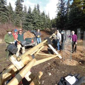 Volunteers help with Goat Creek restoration