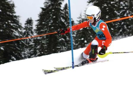Photo courtesy of Loup Loup Alpine Team  Aidan Catlin competed for the Loup team at Stevens Pass.