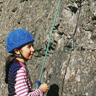 Seventh-grader Grace Gonzales held the rope as a classmate climbed the wall.
