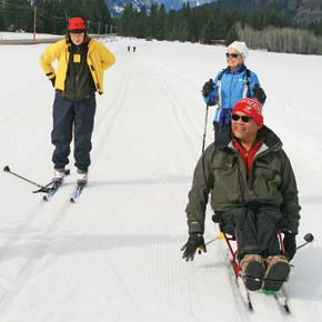 Ski for Light gives blind skiers a workout — and independence on trails
