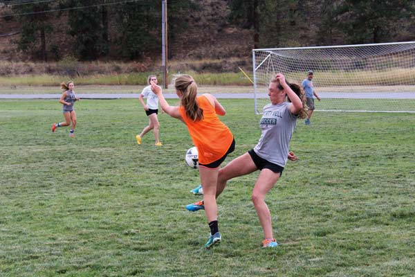 Photos by Don Nelson Pre-season practices have been spirited as the Lady Lions aim for another trip to state.