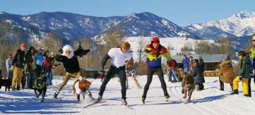 Photo courtesy of Methow Trails The Doggie Dash is coming on Valentine's Day.