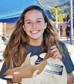 Photo by Ashley Lodato Madeline Bosco with the Chase Award.