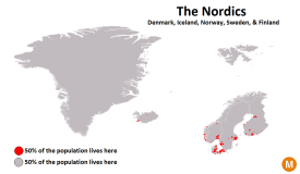 nordics population map
