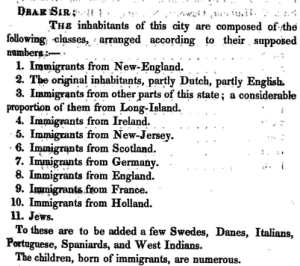 New York City demographics 1810