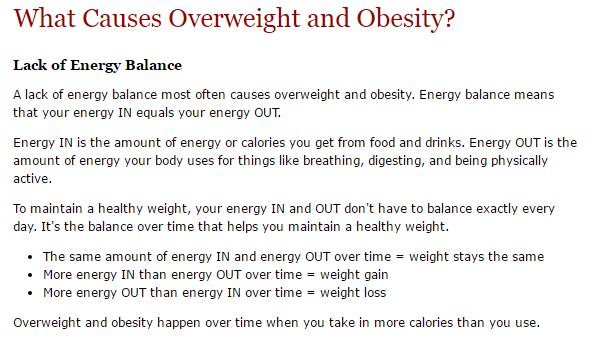 obesity energy imbalance