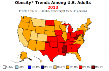 obesity map united states