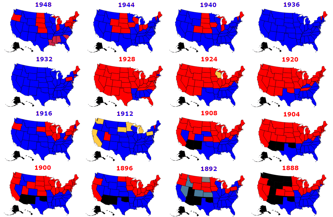 Presidential Elections Used to Be More Colorful - Metrocosm