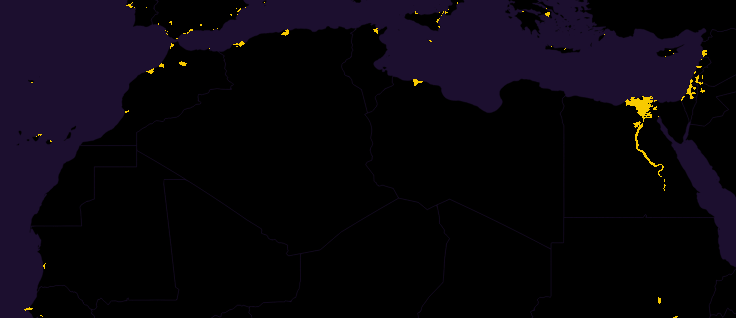 north africa population map