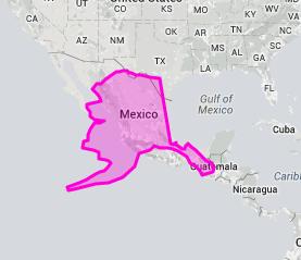 alaska mexico true size