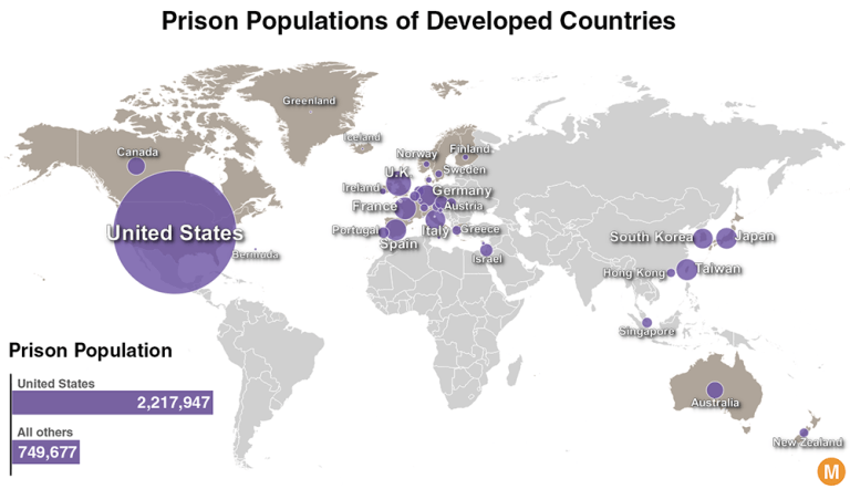 prison population map