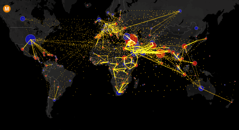 All the World's Immigration Visualized in 1 Map