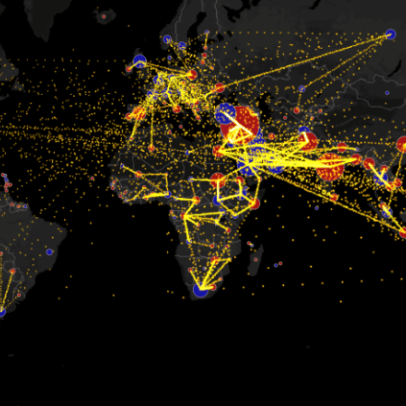 Mapping the Flow of International Trade - Metrocosm
