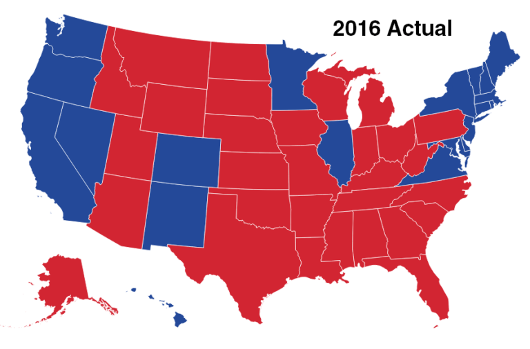 election map 2016