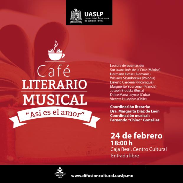 """Café literario musical """"Así es el amor"""" @ Centro Cultural Caja Real"""