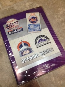 1993 mets rockies inaugural program