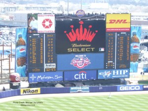 Shea Stadium scoreboard