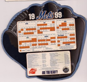 1999 Mets Magnetic schedule