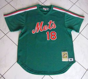1985 mets st. patrick's day jersey