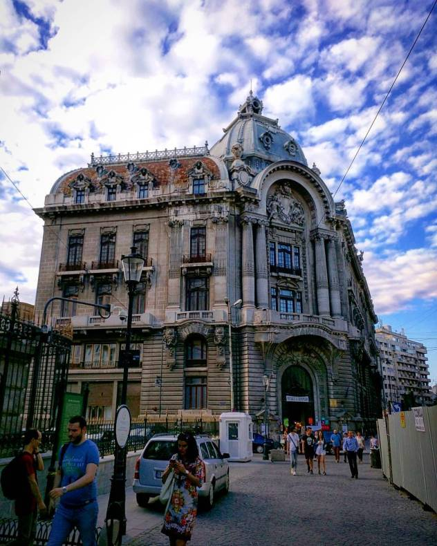 Beautiful architecture and beautiful clouds in Bucharest Romania Went insidehellip