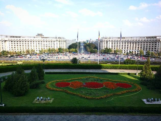 The view from the Palace of the Parliament 2nd largesthellip
