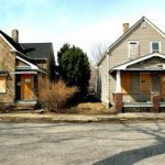 Bank owned homes in Detroit that have been empty for three years