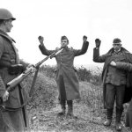 German soldiers surrendering to the Russians as the Germans retreat from the Battle Of Moscow in 1942