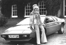 1977 Lotus Esprit S1 with chick in fur coat