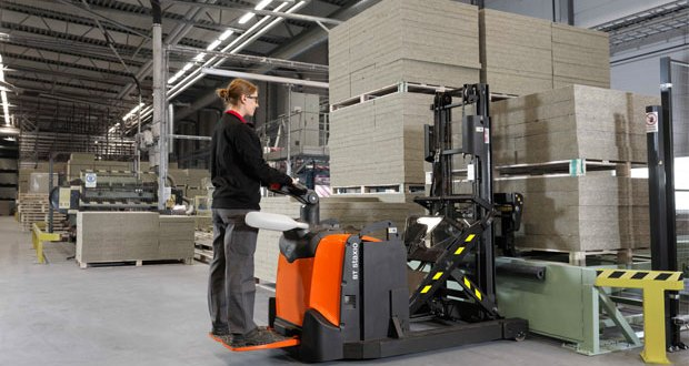 Save space with Staxio stackers from Toyota Material Handling