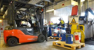 Chemical waste site gets Pyroban treatment for explosion protected forklifts