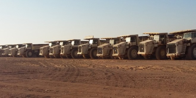 COMEDAT calls on 50 Terex Trucks rigid dump trucks to work in phosphate mines in Jordan