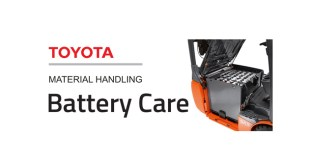 totyota material handling in charge with new battery care service