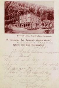 AK Rotenfels 1891 - Beuchert