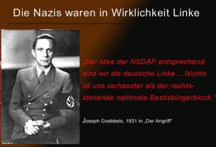 Goebbels wir sind Linke