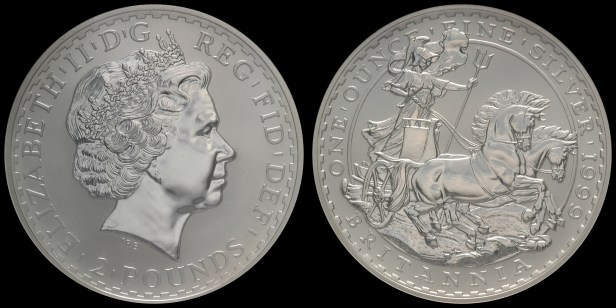 1999. 'Britannia in Chariot.' NGC MS69 Acquired: 20 NOV 2006