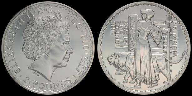2001. 'Una and the Lion. ' NGC MS69 Acquired: 20 NOV 2006