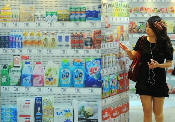 Virtual Grocery Store in Korea