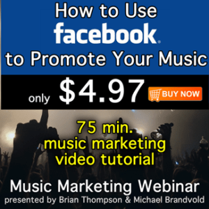 How to use Facebook to promote your music.