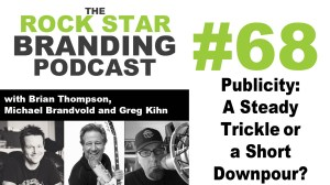 Publicity: A Steady Trickle or a Short Downpour? Rock Star Branding Podcast