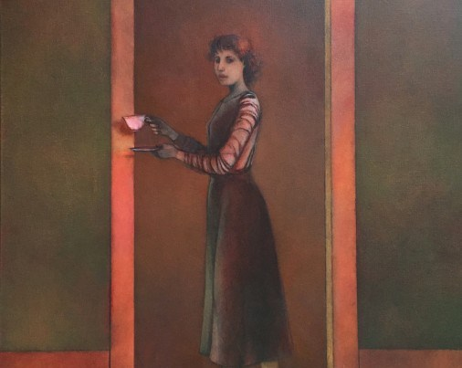 Francesca, oil on canvas, 30 x 24 inches, Michael Chambers