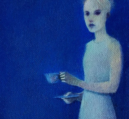 Lucca (houseghost) - detail - oil on canvas - 16 x 12 inches - Michael Chambers