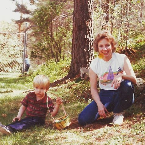 Those are some dope shirts my moms and I are wearing #tbt 1985-86