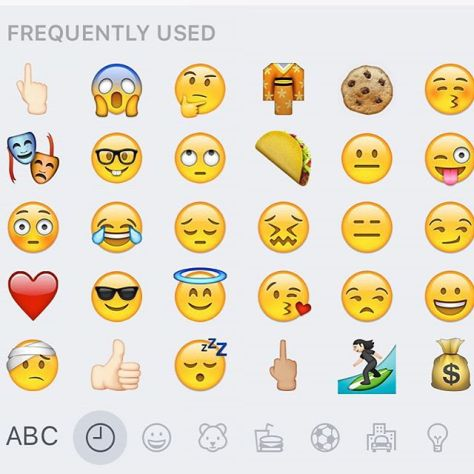 The Frequently Used #emoji panel truly is a window into your soul.