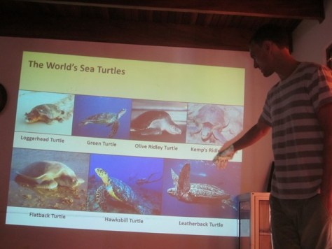 Field Station Manager Nathan Robinson educates us about sea turtles