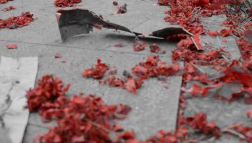 Red paper firecracker casings