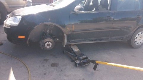 Changing the tire