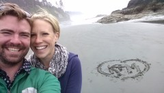 Katie and Michael on Ruby Beach